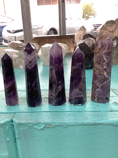 Small Chevron Amethyst Points