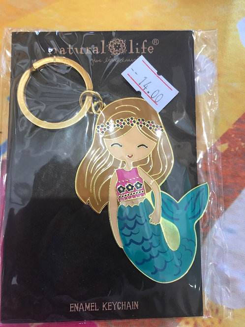 Natural Life Mermaid Keychain