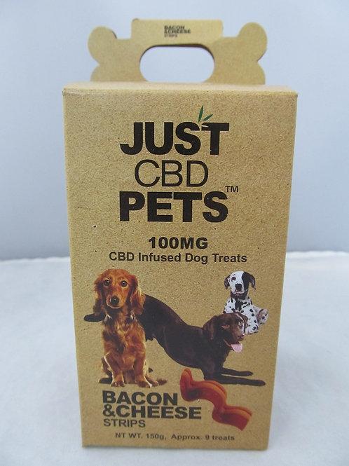 Just Pet Treats Bacon and cheese 100mg
