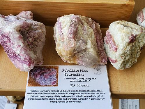 Rubellite pink tourmaline
