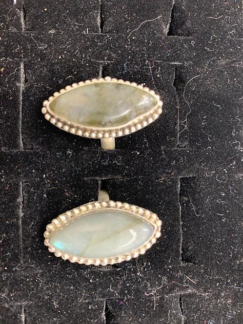 Labradorite Ring - Diamond Shape - Size 7