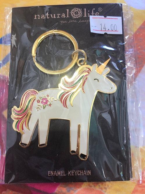 Natural Life Unicorn Keychain
