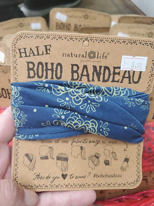 Natural Life Half Boho Bandeaus blue Mandala