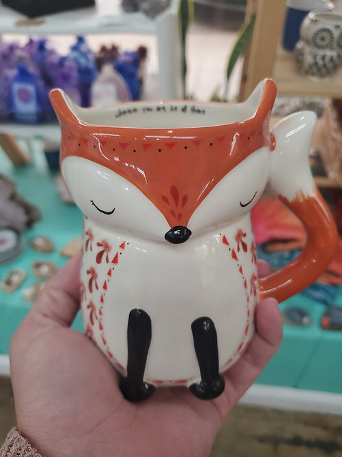"""Fox Mug """"Wherever you are, be all there"""""""