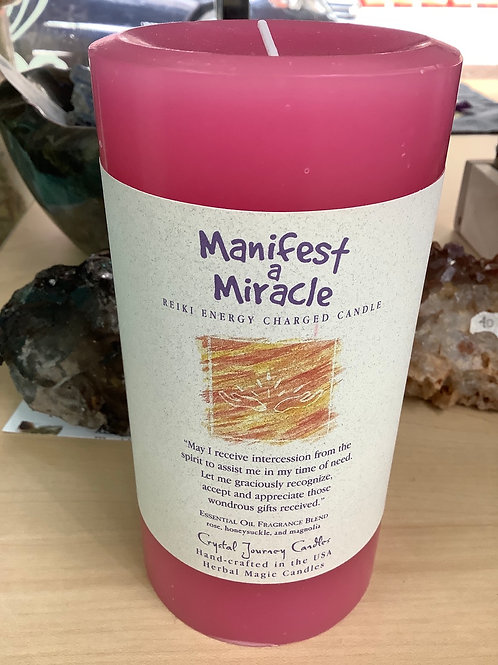 Manifest a Miracle Candle Large