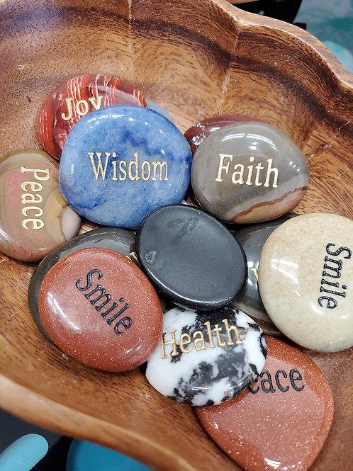 Word Worry Stones