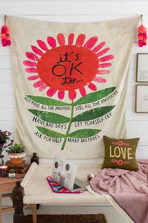 Natural Life Tapestry Blanket