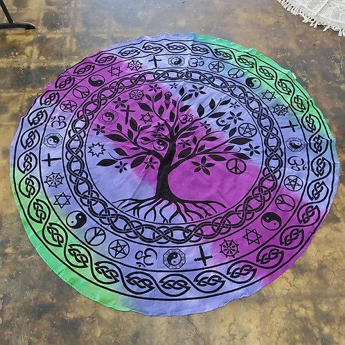 Round Tree Universal Love tapestry