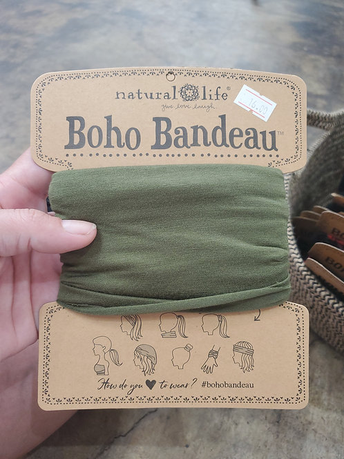 Natural Life Boho Bandeau Army Green
