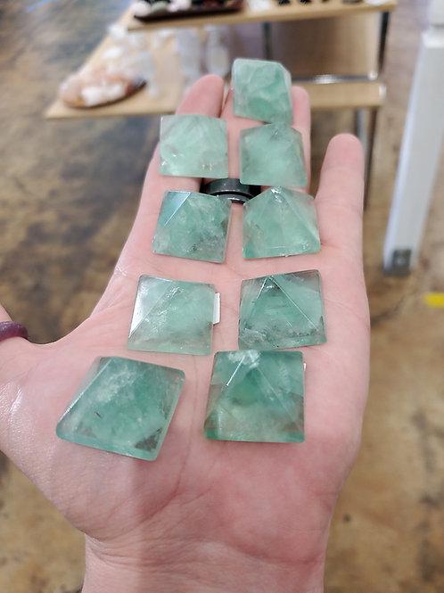 Fluorite pyramids