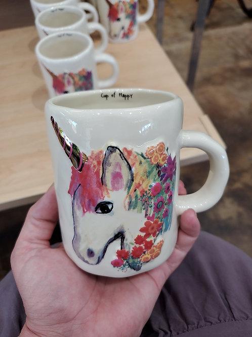"Natutal Life Mug Unicorn ""cup of happy"""