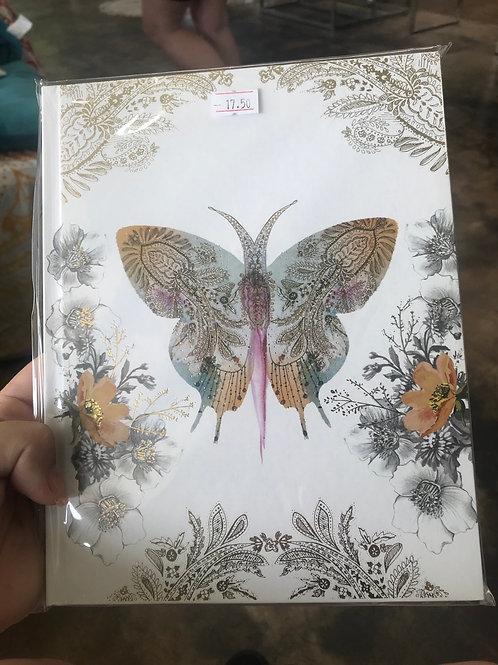 Papaya Art butterfly hardback notebook