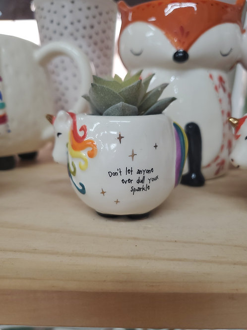 Natural Life mini unicorn succulent