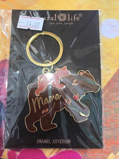 Natural Life Mama Bear Keychain