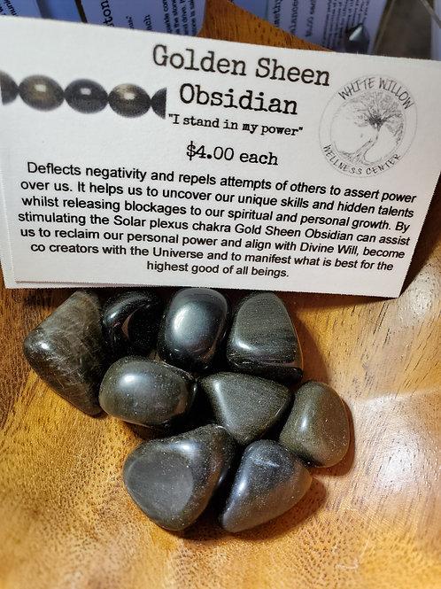Golden Sheen Obsidian