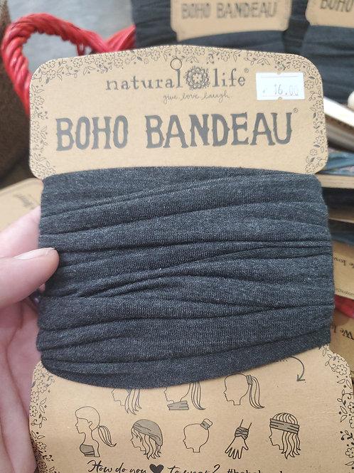 Natural life Boho Bandeau Charcoal grey
