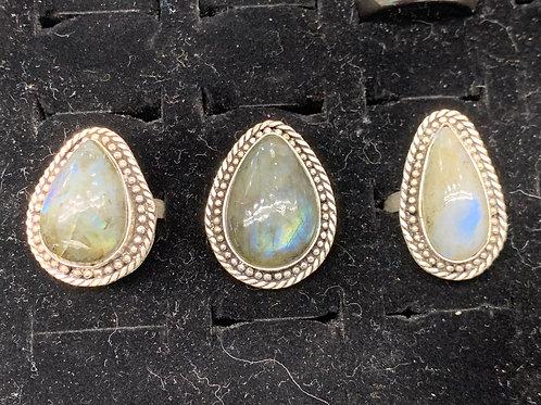 Labradorite Rings - Size 9