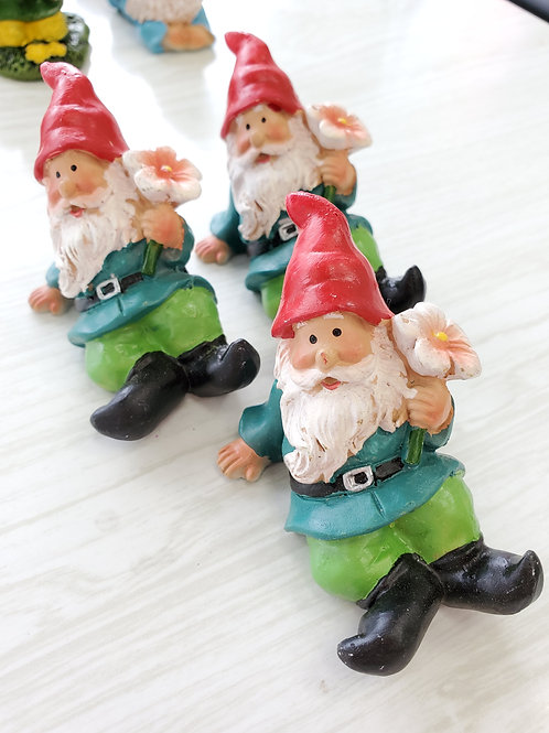 Gnomes with flowers