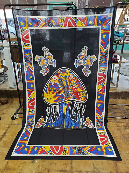 Mushroom psychedelic Tapestry