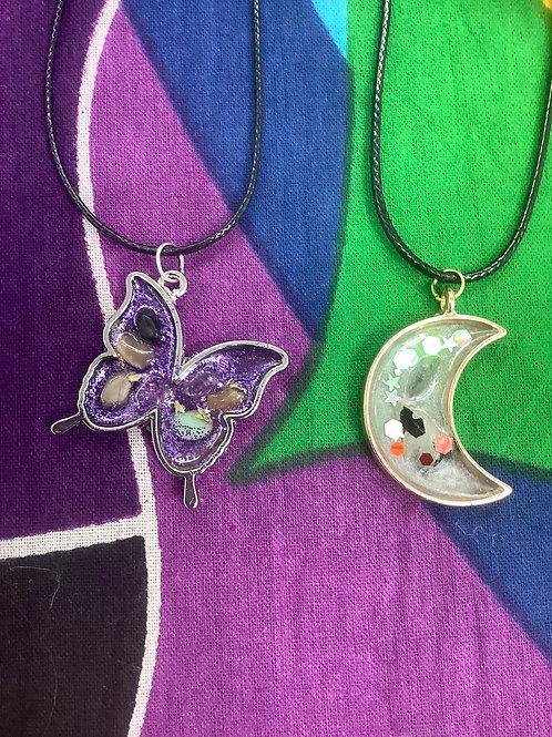 Handmade Resin and crystal Pendants