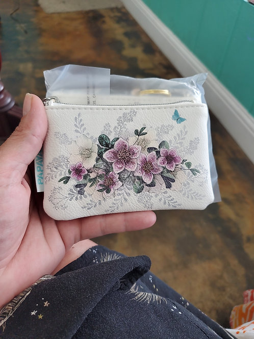 Papaya Art Coin Purse Flowers