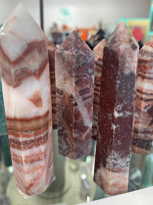 Red Calcite Point