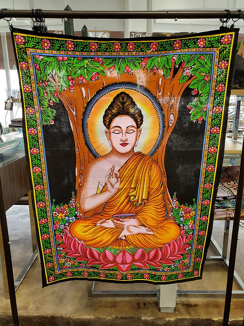 Buddha with sequin Tapestry Small