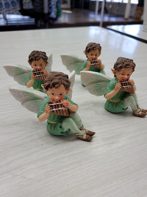 Pixie with flute
