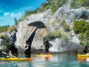 Kayaking - Mine Bay Maori Carvings
