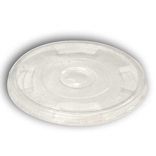 Compostable Flat Lid for 9,12,16,20 and 24oz PLA Cold Cups