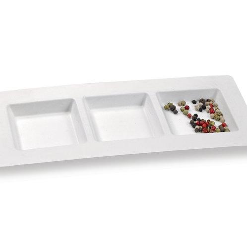 """Bio N Chic"" 3 Compartment Sugarcane Plate"