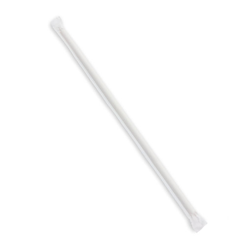 """Jumbo Paper Straw 10"""" Wrapped"""