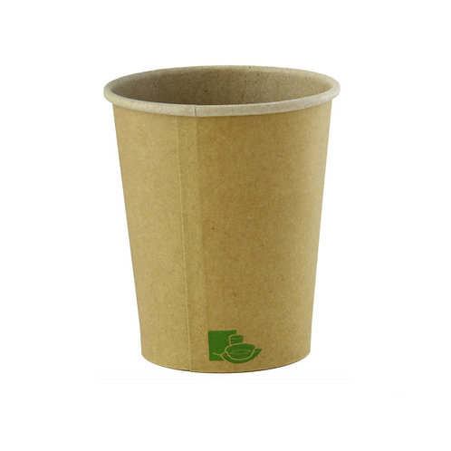 Hot Cup - 8oz Natural Kraft Zen Collection Cup