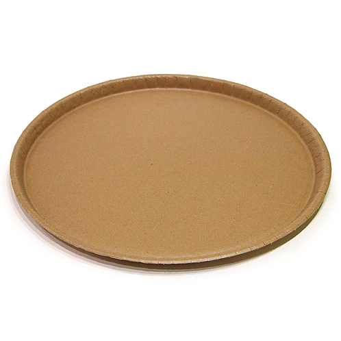 """16"""" Round Catering Tray Natural Kraft"""