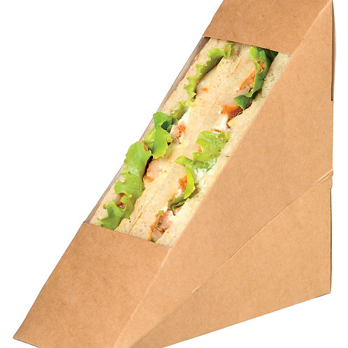 Kraft Double Sandwich Box With Window