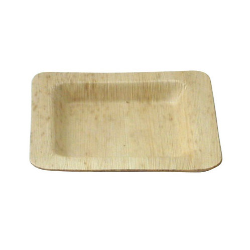 """Square Bamboo Leaf Plate - 5.9"""" x 5.9"""""""