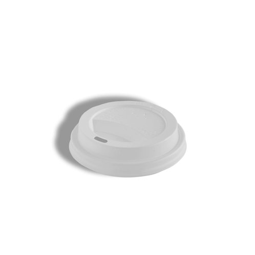 PS White Lid For PE Coated Hot Paper Cups Fits- 10/12/16/20 oz