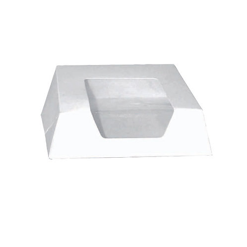 """White Pastry Box With Window - 5.5 x 5.5 x 1.6"""""""