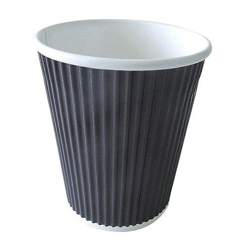 Hot cup - 8oz Ripplay Black Cup 1000 per case
