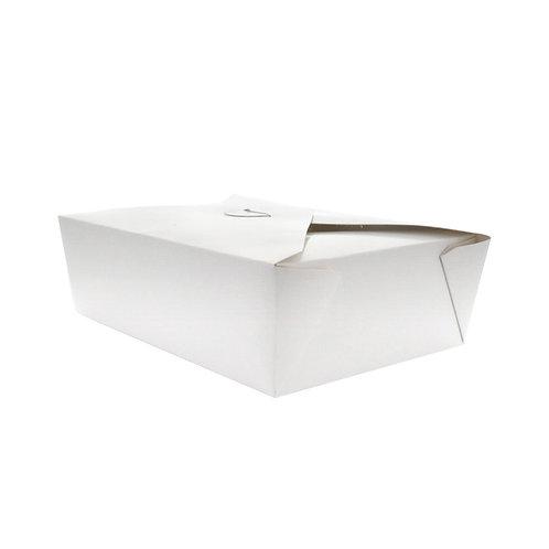 White Takeout Collection - White Meal Box 50oz