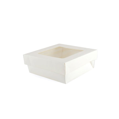"""White Kray Collection - White Box with lid 4.7 x 4.7 x 2"""""""