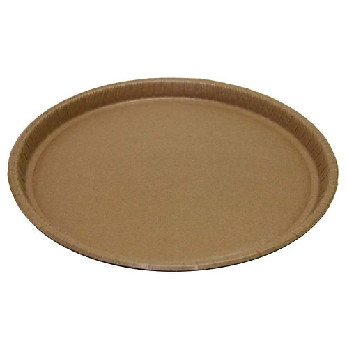 """12"""" Round Catering Trays - Natural Kraft"""