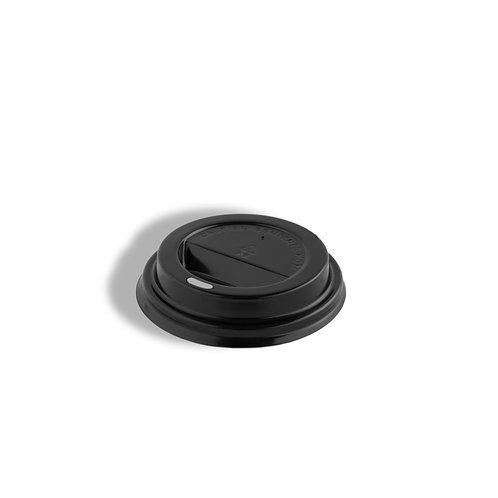PS Black Lid  (fits the 8oz hot paper single and double wall cups)