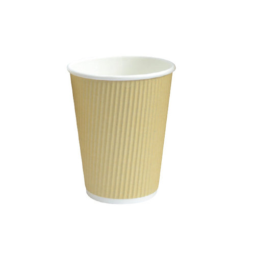 Hot Cup - 12oz Beige Ripplay Cup
