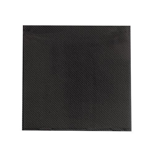 "Point To Point Black Napkin 15 x 15"" - 2 ply - 1/4 Fold"