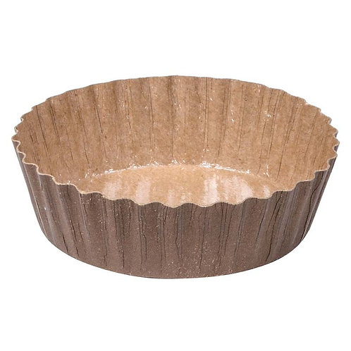 5.7oz Fluted Baking Cups - Clear XP/Solid Brown