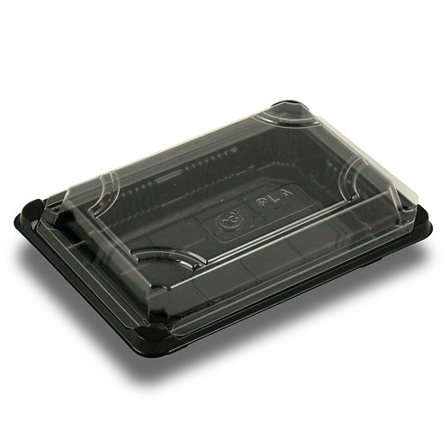 """PLA Sushi Tray with Lid ( 7 x 4.875 x 1.75"""")"""