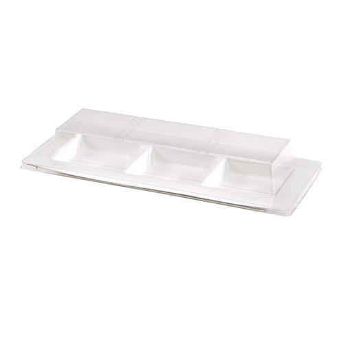 """""""Bio N Chic"""" 3 Compartment Clear  Lid for 210APU3TAPA"""