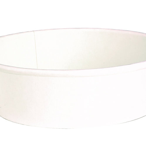 Buckaty Collection - 20oz Round White To-Go Container