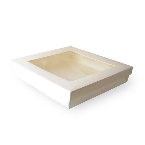 """White Kray Collection - White Box with Lid 7.1 x 7.1 x 2"""""""